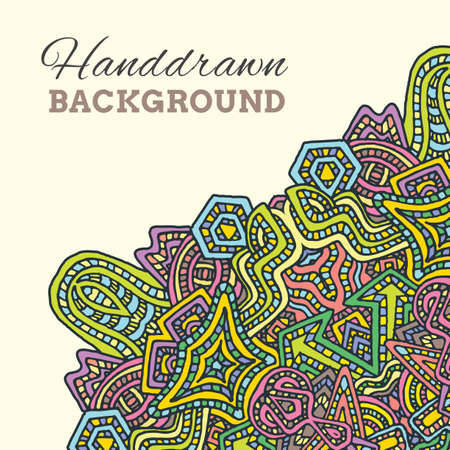 vector colored abstract hand drawn doodle background illustration on light background Illustration