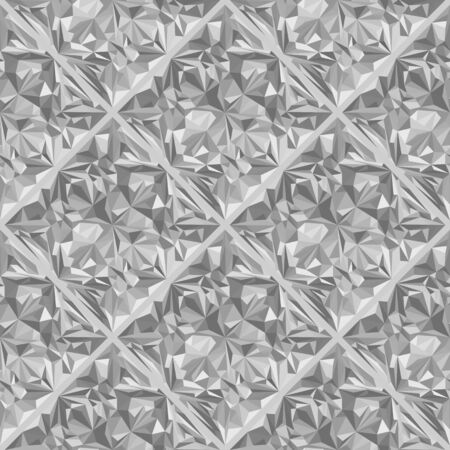 vector colorless gray halftones crystal jewel stone surface seamless pattern