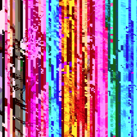 scrambled: vector vibrant rainbow colors vertical pixel stripes modern abstract digital glitch graphic design damaged data file background