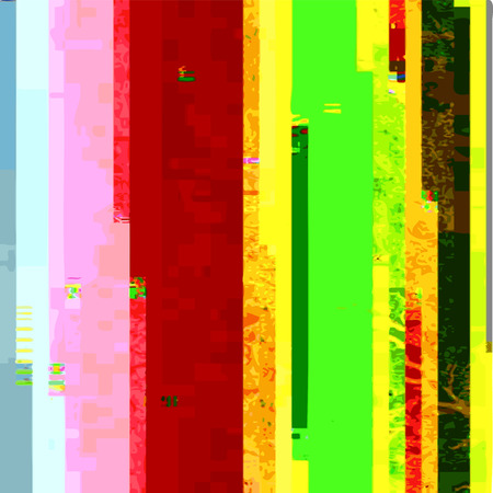 scrambled: vector vibrant green red yellow colors modern abstract digital horizontal stripes glitch graphic design damaged data file background