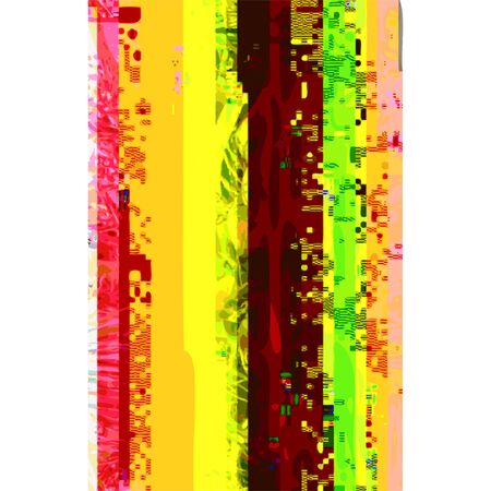 scrambled: vector vibrant red yellow colors modern abstract digital vertical glitch graphic design damaged data file background