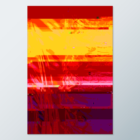 scrambled: vector vibrant violet red yellow colors modern abstract digital vertical glitch graphic design damaged data file background
