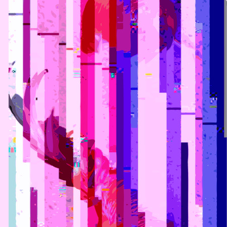 vector vibrant violet pink blue colors modern abstract digital vertical stripes glitch graphic design damaged data file background 向量圖像