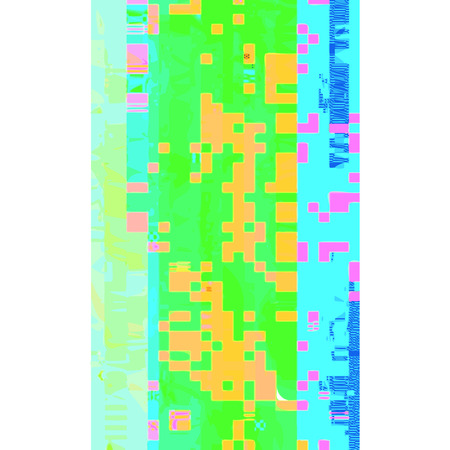 glitch: vector vibrant blue green colors horizontal stripes pink orange pixels modern abstract digital glitch graphic design damaged data file background Illustration