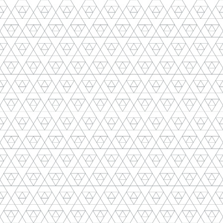 sacral: vector black outline triangle sacral geometry abstract seamless pattern isolated white background Illustration