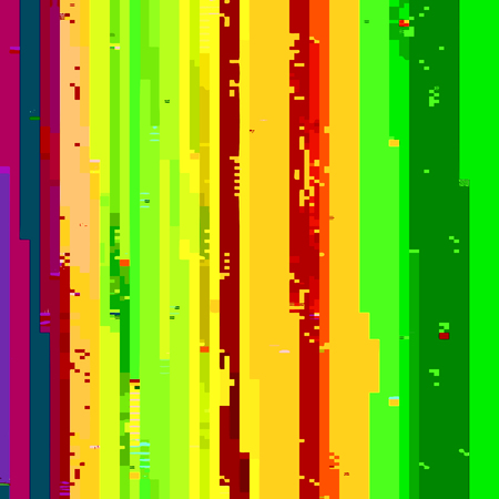 glitch: vector various vibrant colors modern abstract digital stripes glitch graphic design damaged data file background Illustration