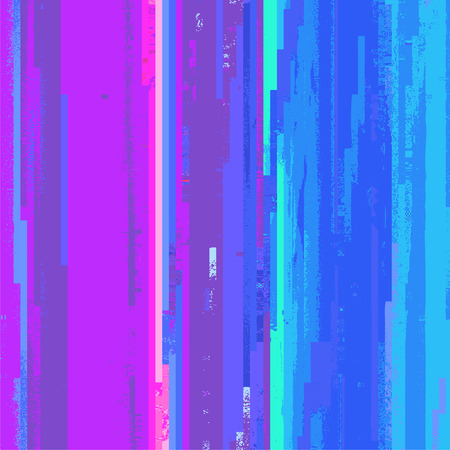 vector various vibrant colors modern abstract digital stripes glitch graphic design damaged data file background Ilustracja