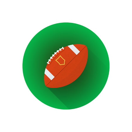 Vector colorful flat design american football professional ball isolated illustration green