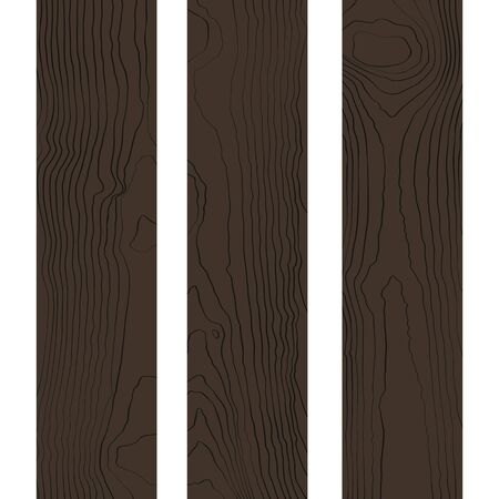 ligneous: vector colored flat design dark brown wood boards texture decoration background