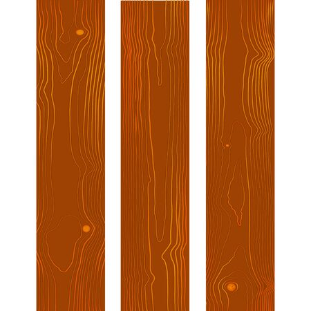 vector colored flat design brown wood boards texture with knots decoration background