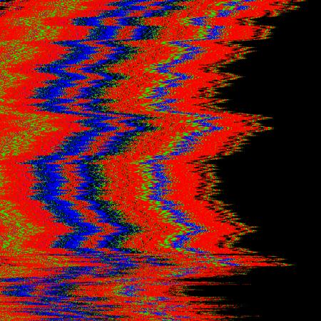 ベクトル RGB テレビ音抽象的な干渉グリッチ現代装飾黒背景