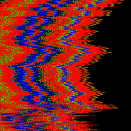 vector RGB television noise abstract interference glitch modern decoration black background