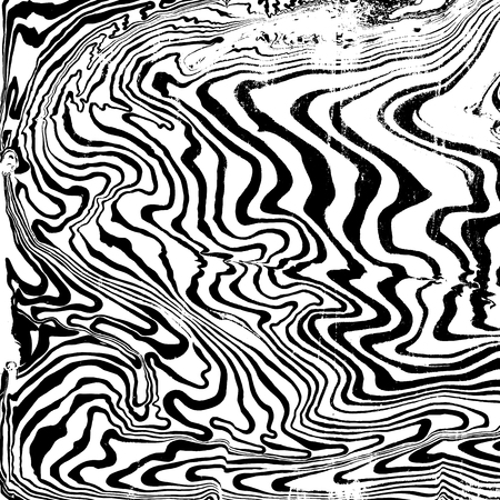 vector black monochrome water painting suminagashi abstract decoration hand drawn white background