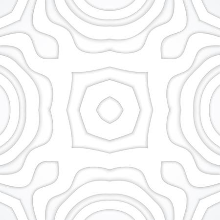 vector white tones realistic shadowed volumetric decoration monochrome background  Illustration