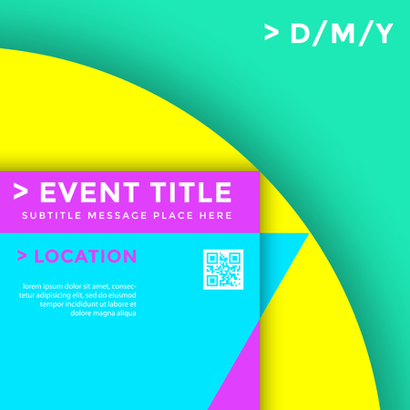 vector vibrant color abstract poster template minimal style design decoration background