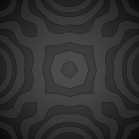 vector black tones realistic shadowed volumetric decoration monochrome background