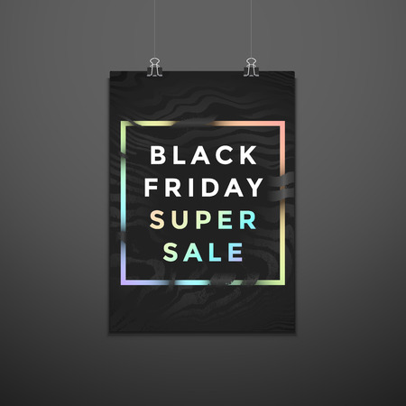 vector monochrome art texture black friday sale pearl sign discount decoration abstract modern design trendy flyer layout minimal advertising suspended poster template on dark wall background Imagens - 122585818