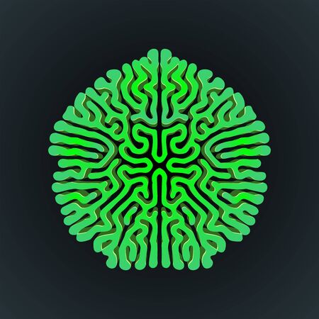 vector green design Turing morphogenesis reaction diffusion pattern organic ornament element black background