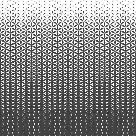vector grey monochrome sacred geometry flower of life horizontal liner gradient pattern dark background  イラスト・ベクター素材