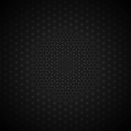 vector contour sacred geometry volumetric flower of life circle pattern dark background