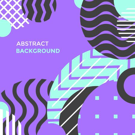 vector violet cyan colors abstract shapes minimal design poster template decoration modern background layout