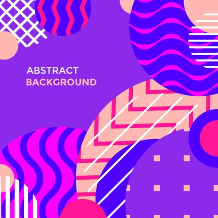 vector various vibrant colors abstract shapes minimal design poster template decoration modern background layout