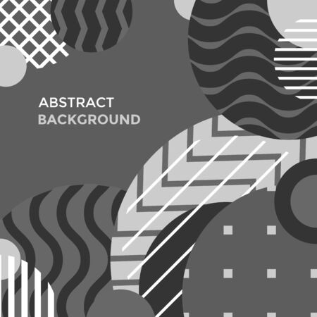 vector grayscale colors abstract shapes minimal design poster template decoration modern background layout