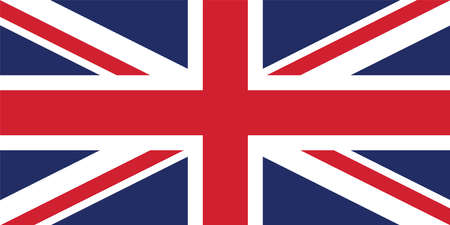 Vector image for the United Kingdom Flag. Flag of Great Britain, British flag, Union Jack, Based on the official and exact United Kingdom flag dimensions (2:1) & colors (280C and 186C) Illustration