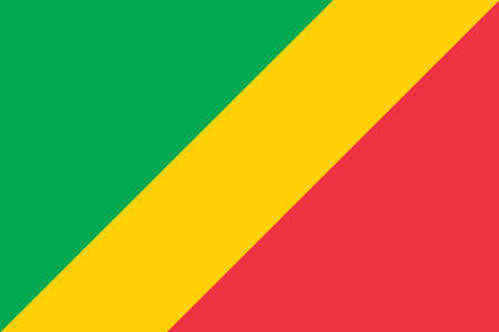 Vector image for Congo flag. Based on the official and exact Congo flag dimensions Ilustrace
