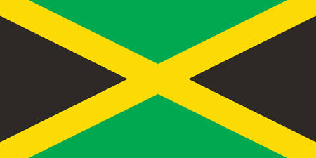 Vector image for Jamaica flag. Based on the official and exact Jamaican flag dimensions