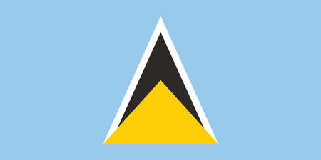Vector image for Saint Lucia flag. Based on the official and exact Saint Lucia flag dimensions Illustration