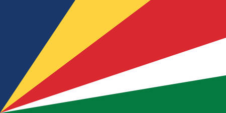Vector image for Seychelles flag. Based on the official and exact Seychelles flag dimensions Illustration