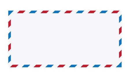 Air Mail Envelope Vector Illustration, Post letter vector design isolated on white background.