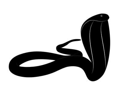 Illustration vectorielle de serpent cobra roi