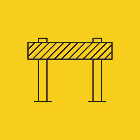 Road Block Sign, Traffic Barrier Vector Illustration