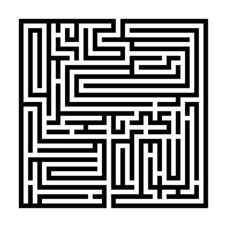 Labyrinthe carré, Labyrinthe pour enfants, Jeu d'énigmes pour enfants, puzzle avec une entrée et une sortie.