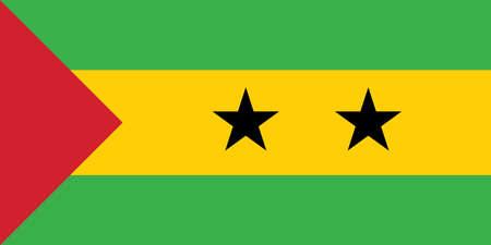 Vector Image of Sao tome and principe Flag.