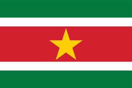 Vector Image of Suriname Flag. Based on the official .