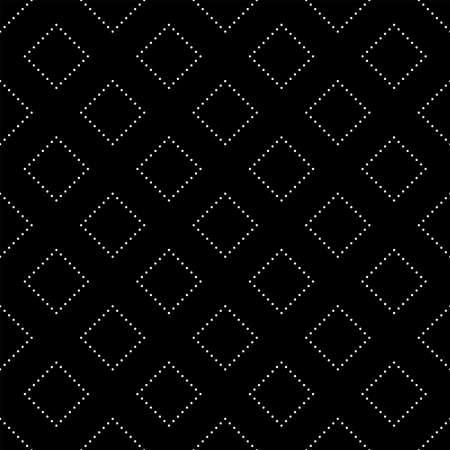 Seamless Black and White Circle Mosaic Pattern, Abstract Geometric Dots Modern Background. Vektoros illusztráció