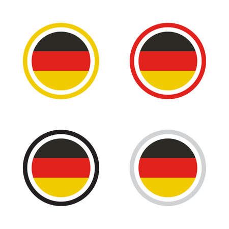 Made in Germany business symbol vector illustration design ideal for product label with red, yellow, black concept