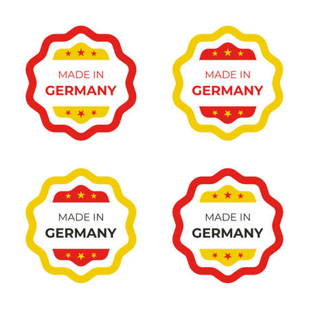 Made in Germany vector illustration design for business and product symbol in red and yellow colors