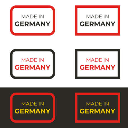 Made in Germany text vector design illustration of German badge and emblem of manufacturing business and product Stock Illustratie