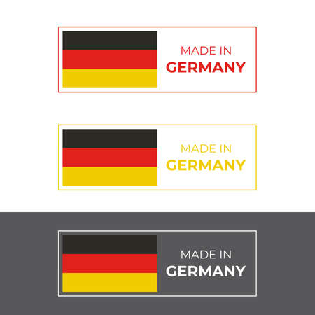 Made in Germany symbol vector design inspired by German flag, for quality product stamp and emblem