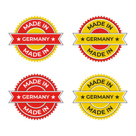 Made in Germany badge emblem vector illustration inspired by German red yellow design for business and product