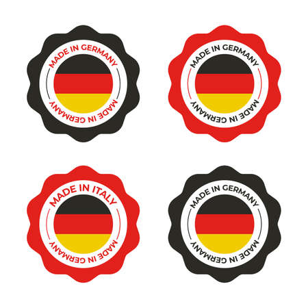 Made in Germany vector illustration of German flag for use as design for business badge and insignia
