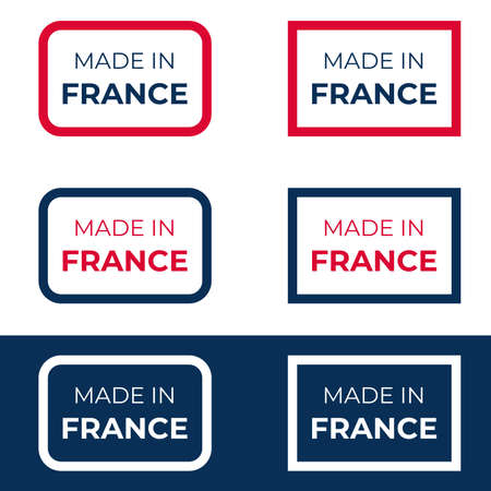Made in France vector design for label, badge and emblem reflecting French quality produce business and product Illustration