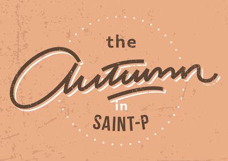 variants: Autumn lettering variants Illustration