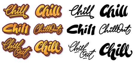 chill out: Chill lettering variants