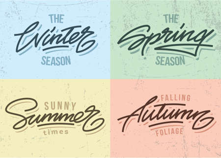 spring summer: Seasons inscriptions