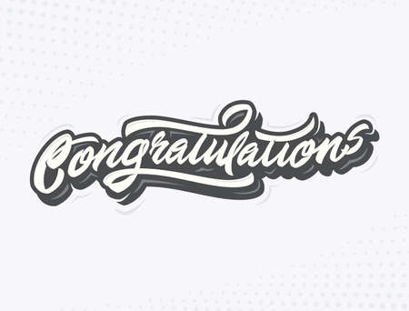 upmarket: Congratulations Handlettering vector illustration for holiday or another event